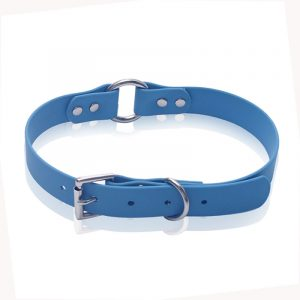 Blue Waterproof Durable,PVC Dog Collar Supplier,with O-ring
