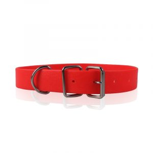 Solid Red Color PVC Dog Collar