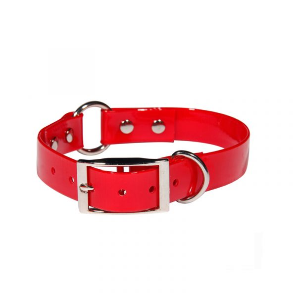 tpu dog collar with center ring