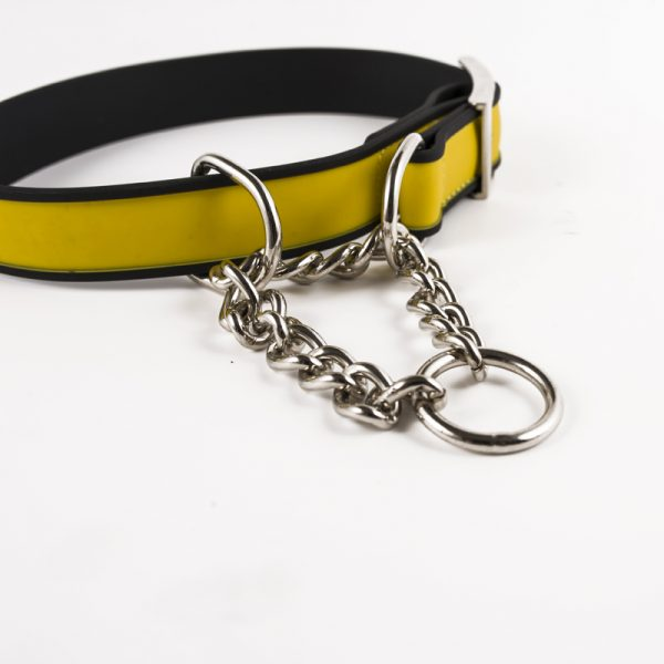 PVC Dog Collar with Chain