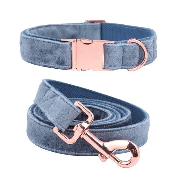 velvet collar and leash 3
