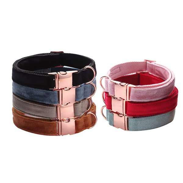 velvet collar and leash 5