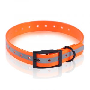 Orange Wholesale Custom,Reflective TPU Dog Collar Supplier