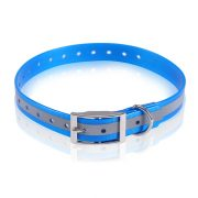 Fluo Blue High Visible,Reflective TPU Dog Collar