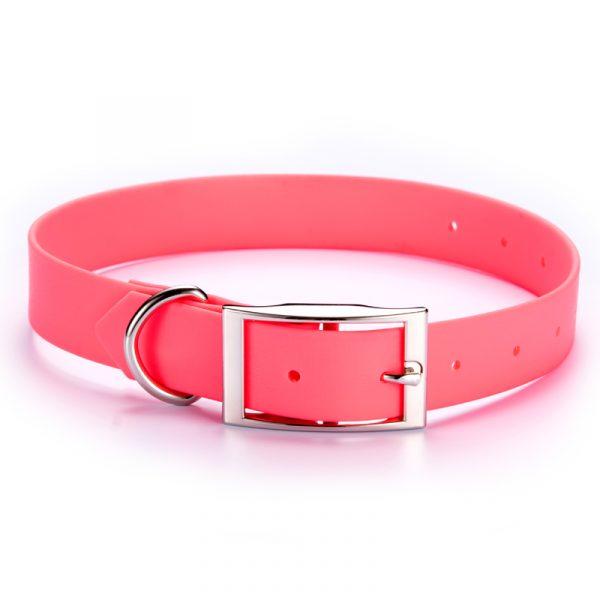 Feellike Leather PVC Coated Dog Collar
