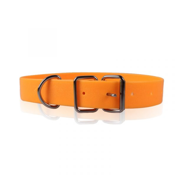 Simple Pure Color,Orange Dog Collar,Roll Zinc Alloy Buck