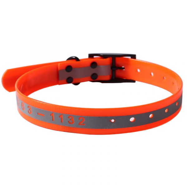 Custom Logo Reflective TPU Dog Collar with Black Buckle