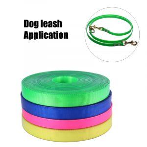 Waterproof TPU coated webbing for training dog lead
